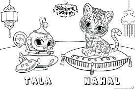 Shimmer And Shine Coloring Pages Printable With Leah Shim Yoloerco