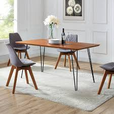 60 hairpin leg dining table walnut 60 x 34 x 30h on today overstock 19387336