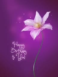Purple Flower Happy Birthday Birthday Wishes Happy Birthday