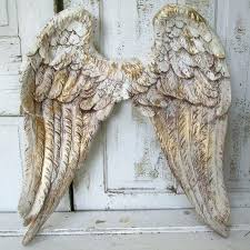 angel wing wall decor angel wings wall decor white gold with brown distressing shabby cottage chic angel wing wall decor