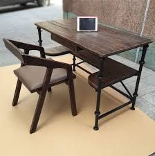 american retro style industrial furniture desk. vintage american country home bedroom study desk wood wrought iron pipe industrial style deskin coffee tables from furniture on aliexpresscom retro e