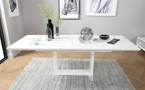 tokyo white high gloss extending dining room table 160 220 only 399 99 furniture choice