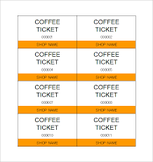 Free Meal Ticket Template Simple Word Ticket Template Rjengineeringnet