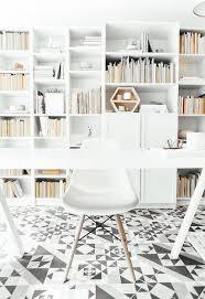 white airy home office. white airy home office stylish floor