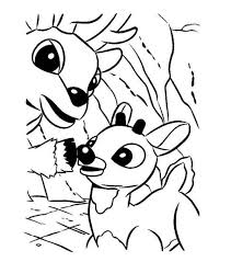 Small Picture Rudolph the Santa Reindeer Christmas Coloring Page Animal