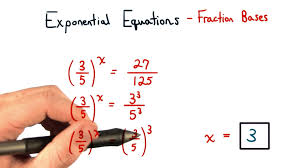 exponential equations fractions for bases visualizing algebra you