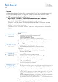 Cv Examples Artist Resume Templates Design For Job Seeker And Career