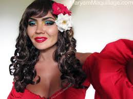flamenco dancer makeup photo 2