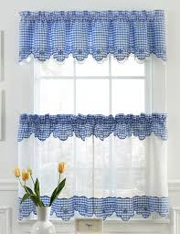 provence kitchen curtains blue lorraine sheer