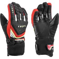 Leki Gloves Size Chart Leki Race Coach C Tech S Gloves Black Red Kids