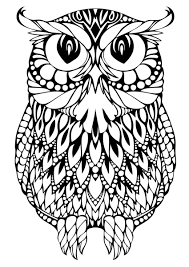 Free Owl Coloring Pages For Adults Adult Paper Crafts Pictures To