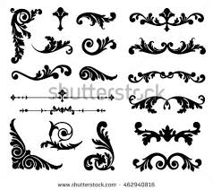 Decorative Design Interesting Decorative Floral Scrolls Vector Download Free Vector Art Stock