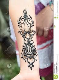 временная татуировка в хне стоковое изображение изображение