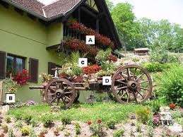 Small Picture Container Garden Design A Geranium B Rose C Palm D Ivy