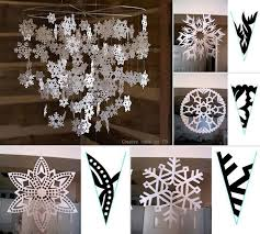 view in gallery snowflake mobile wonderful diy pretty paper snowflake mobile from template