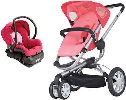 pink car seat stroller combo