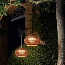 image of hanging lights that plug in outdoor