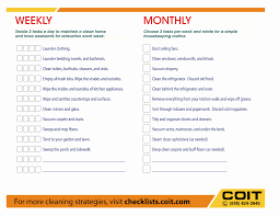 Cleaning Chart Checklist 40 House Cleaning Schedule Template Markmeckler Template