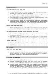 Cover Letter Basic Cv Personal Profile Examples Career Pioneers