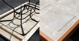 remodelaholic how to replace a patio table top with tile marble table top replacement