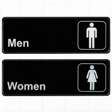 Restroom signs Symbol set Of 2 Restroom Signs Mens And Womens Restroom Signs Black And White 3inches Bathroom Signs Restroom Signs For Door Wall By Tezzorio Amazoncom Set Of 2 Restroom Signs Mens And Womens Restroom Signs Black