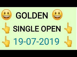 Golden Day Chart Open Golden Matka 19 07 2019 Single Jodi Single Open Trick