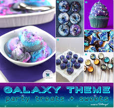 Galaxy party treats from ice cream to glittery donuts // featured on The  Party Suite