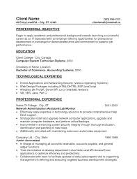 Functional Resume Objective Entry Level Accounting Resume Objective