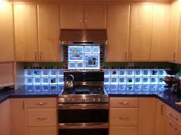 Tile Backsplash In Kitchen Interior Blue Ocean Mini Glass Subway Tile Kitchen Backsplash