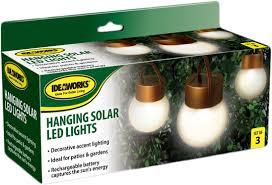 hanging solar patio lights. Amazon.com : Set Of 3 Solar-Powered Globe Lamps Outdoor Decor Garden \u0026 Hanging Solar Patio Lights