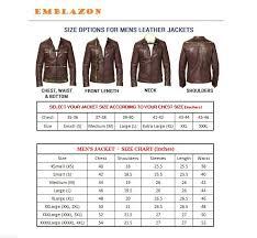 leather jacket size chart emblazon brown pu leather biker jacket buy emblazon brown pu
