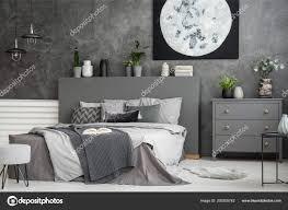 Leinwand Auf Eine Graue Wand Einem Interieur Monochromatische