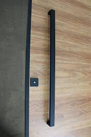 matte black entry pull set 1 2m long ideal for pivot doors doors doors door handles and entry doors