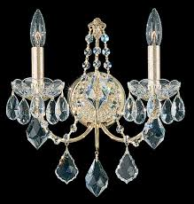 century 2 light 110v wall sconce in antique silver with clear heritage crystal