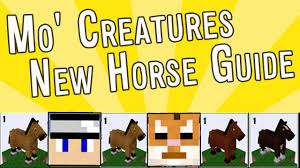 Mo Creatures How To 1 7 2 New Updated Horse Guide Fixed Breeding Chart Horse Tiers