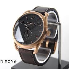 nixon nixon watches c45 leather rose gold brown na4651890 00 nixon watch 10p07nov15