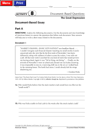 essay on great depression the great depression essay paper  great depression dbq pdf flipbook great depression dbq