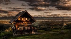 free house scenery hd wallpaper