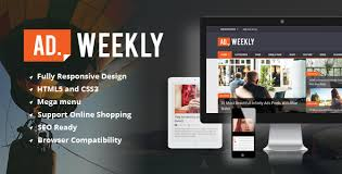 Ad Weekly Magazine Html5 Template