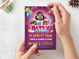 006 Template Ideas Birthday Bash Freebie Flyer Psd Free
