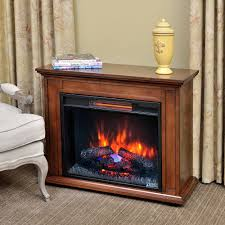 Carlisle Infrared Electric Fireplace Heater in Mahogany - 23IRM1500-M313