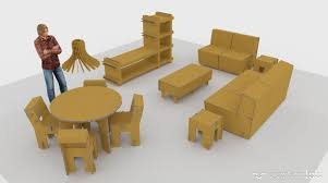card board furniture. Home-staging-cardboard-furniture-living-room Card Board Furniture