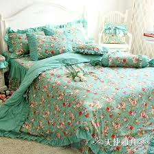 green fl comforter sets designer mint bedding set elegant american country style 1