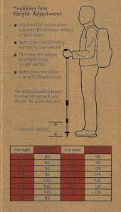 Hiking Pole Height Chart Leki Trekking Pole Sizing Chart Ryder Walker