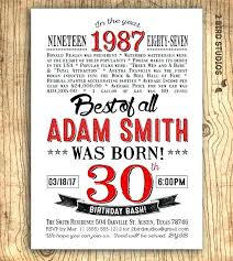 Mens Birthday Invitations 30th Birthday Invitations For Him Surprise Birthday Party