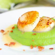 Pan Seared Scallops Recipe with Pea ...