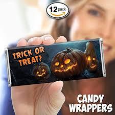 Amazon Com Pumpkins Halloween Candy Bar Wrappers Free