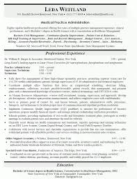 Simple Sample Resume Physician Office Manager Back Office Resume