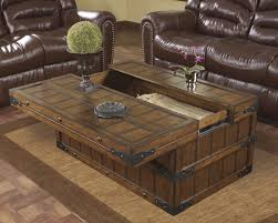 trunk table furniture. Furniture : Traditional Modern Brown Wood Trunk Coffee Table With Storage Design Living Room Ideas Fabric Carpet And A