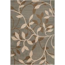 artistic weavers waikiki rectangular green fl woven area rug common 8 ft x